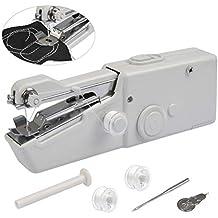 FOCCTS Mini Máquina de coser Manual de viaje portátil Mini Costura electrónica Herramienta de costura portátil
