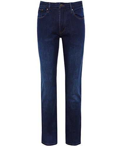 Emporio armani uomo j06 slim fit jeans blu denim 46 regolari