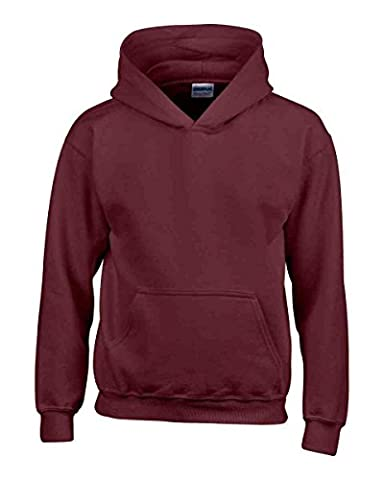 Ages 1-15 Boys Girls Plain Fleece Hoodie Unisex Childrens Hooded Sweatshirt Pullover Hoody 30+