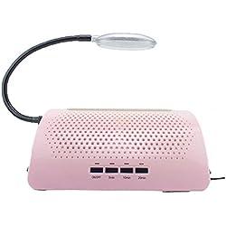 Aspirador de uñas dos ventiladores con la luz Aspiradora de uñas 60w , pink