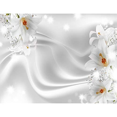 Fototapeten Blumen Lilien Schwarz Weiß 352 x 250 cm Vlies Wand Tapete Wohnzimmer Schlafzimmer Büro Flur Dekoration Wandbilder XXL Moderne Wanddeko Flower 100{e9a367cc6360fe8fc79f5050389d38fc15d88243670fa1beb58620a447a4e414} MADE IN GERMANY - Runa Tapeten 9186011c