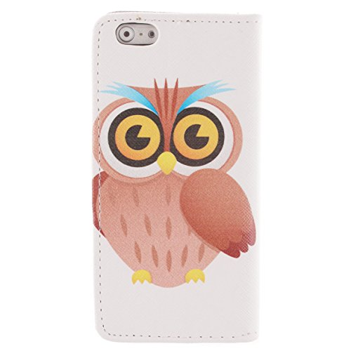 iPhone SE Red,Phone SE Coque en Cuir Folio Etui,Coque Etui pour iPhone 5S,iPhone 5S / 5 Wallet Leather Flip Case Protective Cover,EMAXELERS iPhone 5S Etui de Protection Case Cover PU Cuir Portefeuille Owl Lion 6