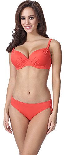 Feba Figurformender Damen Push Up Bikini F03 (Muster-214, Cup 90E / Unterteil 44)