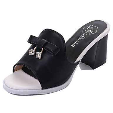 Les femme's confort sandales d'été à Cachemire occasionnels joint de séparation Talon bas noir kaki 2in-2 3/4 US8 / EU39 / UK6 / CN39