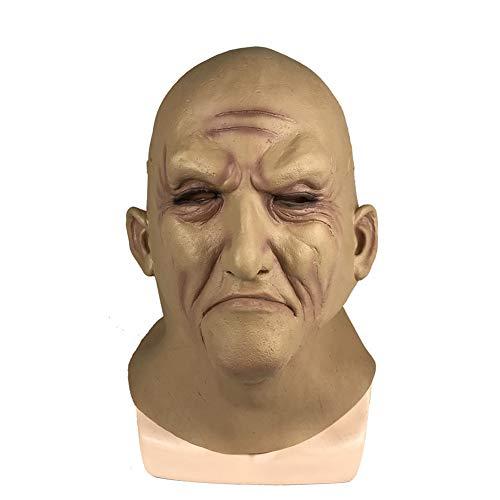 m Maske Für Erwachsene Halloween Gruselige Latex Maske Für Karnevals Halloween Mottopartys,Flesh ()