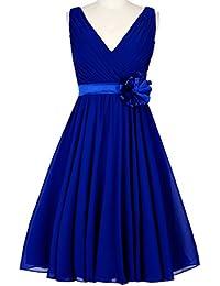 HUINI Corto de Gasa Vestido de Dama de Honor de Dama de Honor Vestidos de Novia