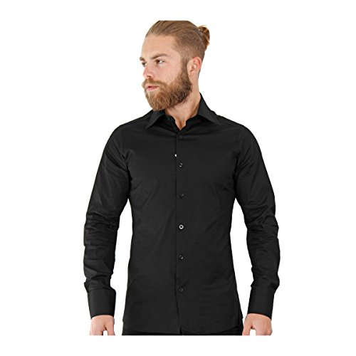 Redbridge Herren Regular Fit Freizeithemd R-2111 Black