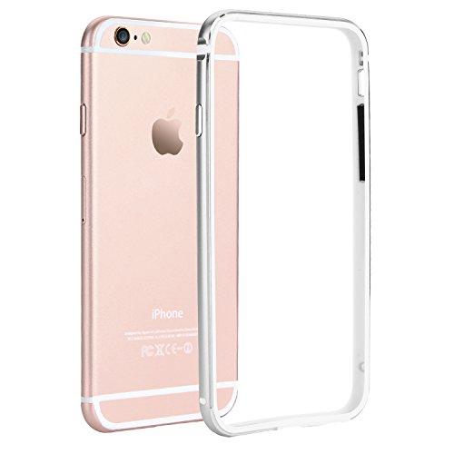 iPhone 6S Bumper, iPhone 6 Bumper, Bestwe Metall Bumper Rahmen Case für iPhone 6S / 6 (4.7 Zoll) Schutzhülle mit Metallbutton (iPhone 6S / 6, Silber)