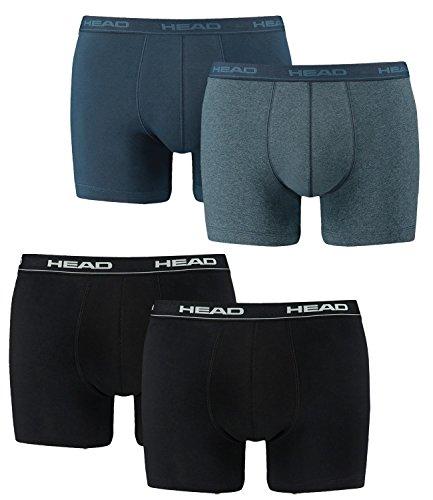 HEAD Herren Boxershorts 4er Pack 841001001 2er Schwarz / 2er Blue Heaven