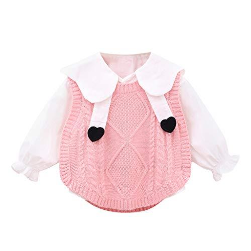 LEXUPE Baby Fleece-Overall, atmungsaktiver Unisex-Jumpsuit für Jungen und Mädchen mit langem Reißverschluss und Kapuze, farbig abgesetzt(A-Rosa,100) -