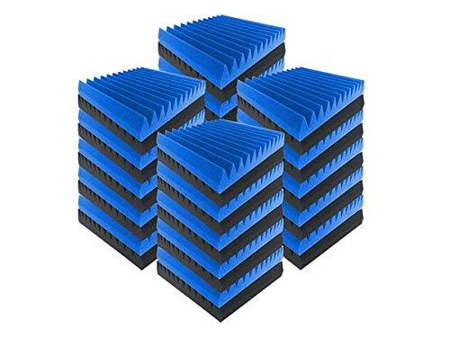 Acepunch 40 pcs BLAU und SCHWARZ Schalldämpfungsbehandlung mit Multi-Wedge-Style-Akustikschaum 30 x 30 x 5 cm AP1167 -