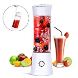 Portable Blender, Fityou Travel Blender Smoothie Maker 480ML USB Rechargeable Juicer Mixer 100W Mini Personal Fruit Blender with 6 Stainless Steel Blades for Home,Office,Sports,Travel, Outdoors