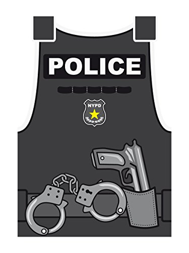 clothinx Damen T-Shirt Karneval Police Weiß