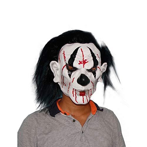 YKQ WS Halloween Scary Latex Maske, Karneval Thema Party Dress Dress Up, Szene Layout Requisiten (Farbe : A) (Scary Für Halloween-party-themen Erwachsene)