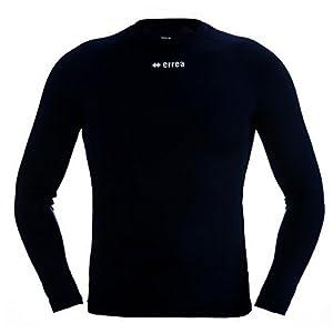 ERMES Funktionsshirt mit geringer Kompression (langarm) ideal zum Training beim Fußball, Running, Football, Rugby, Hockey u.v.m. · UNISEX Damen & Herren Unterziehshirt (Kompressionsshirt) aus Polyester-Stoff für Individual- & Teamsport von Erreà (marineblau, L/XL)