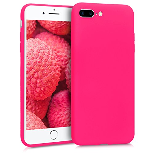 kwmobile Apple iPhone 7 Plus / 8 Plus Hülle - Handyhülle für Apple iPhone 7 Plus / 8 Plus - Handy Case in Neon Pink