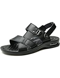 Chaussures homme FEIFEI mode respirant sandales occasionnels pantoufles à double usage plage chaussures (Couleur : Marron, taille : EU39/UK6.5/CN40)