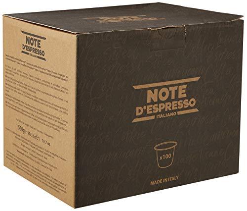 Note D\'Espresso Intenso Caffè in Capsule Compatibili con Sistema Nespresso - 560 g (100 x 5.6 g)