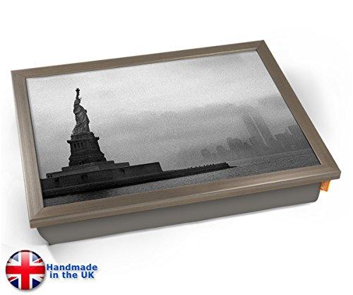 Statue of Liberty New York USA America Cushion Lap Tray Kissen Tablett Knietablett Kissentablett - Chrome Effekt Rahmen - Statue Of Liberty-new York