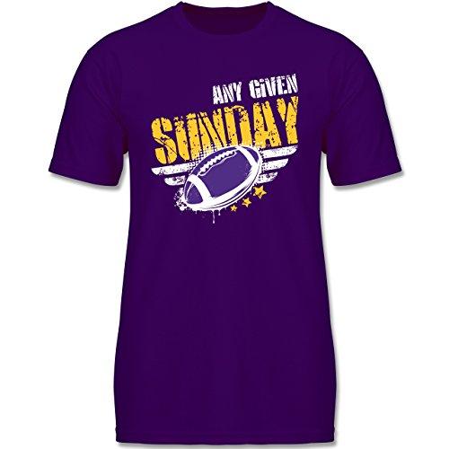 Shirtracer Sport Kind - Any Given Sunday Football Minnesota - 164 (14-15 Jahre) - Lila - F140K - Jungen T-Shirt (Minnesota Vikings-kinder T-shirts)