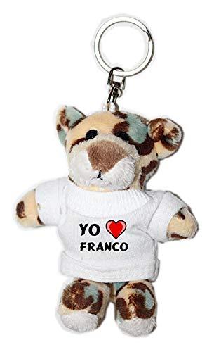 Shopzeus Leopardo Peluche Llavero Amo Franco Camiseta