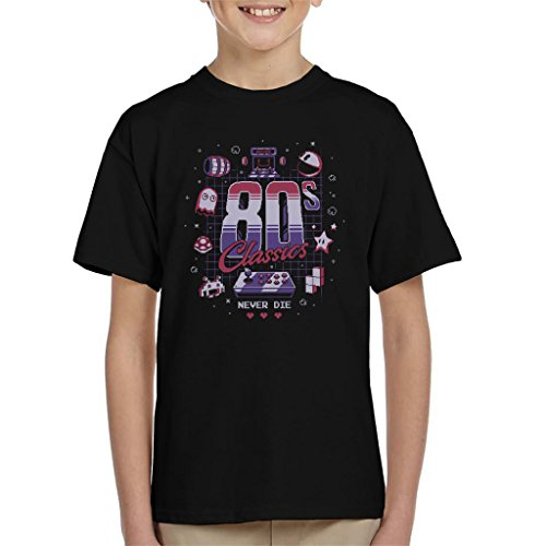 Preisvergleich Produktbild Eighties Gamer Classics Never Die Kid's T-Shirt