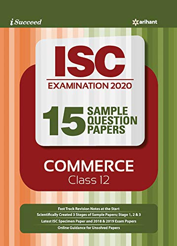 i-succeed 15  Question sample Papers ISC Commerce class 12 2019-2020