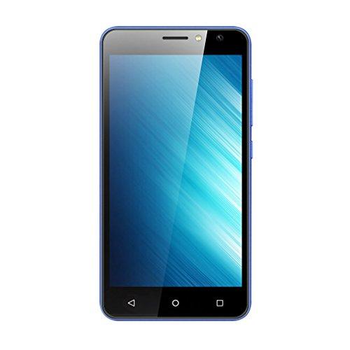 G one Teléfono móvil Smartphone libre 5.0 pulgadas 1GB + 8GB 4G Dual Sim para Android 7.0 Barato teléfono enchufe de la UE (Azul)