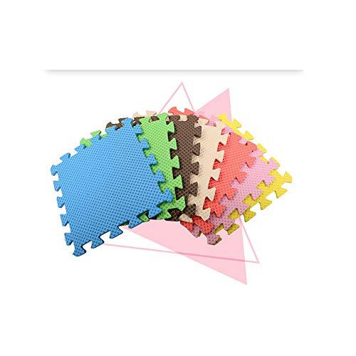 AIRGONE Weichschaum-Spielmatte - Ineinandergreifende Fußmatten für Kinder - Mehrfarbige Schaumfliesen (12 Stück)