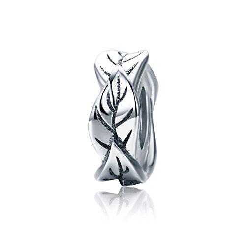 Lily Jewelry Stapelbar Baum Blätter 925Sterling Silber Bead für Pandora Charm Armband (Stapelbar Baum)