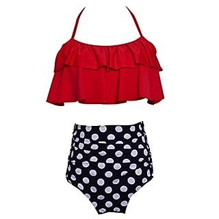 Anyu Women's High Waisted Bikinis Sets Printing Swimwear Sets Swimsuit Red S