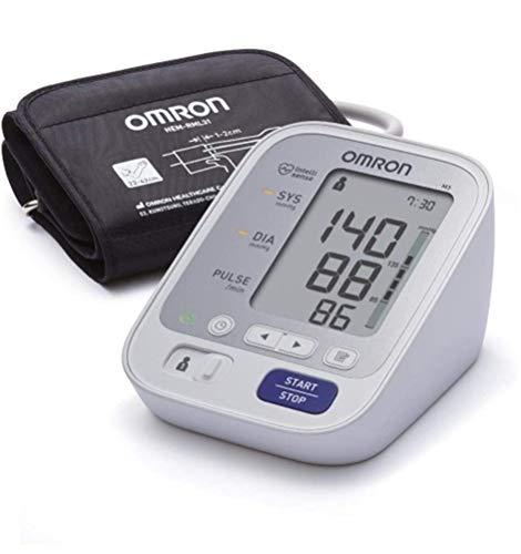 OMRON M3 Misuratore Pressione Sanguigna da Braccio, Bracciale 22-42 cm, Validato Clinicamente, Memoria fino a 120 Misurazioni,  Indicatore di irregolaritá del battito cardiaco
