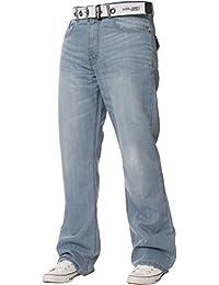 a9ecbfa04cb Kruze Mens Bootcut Jeans Flared Wide Leg Denim Pants Big Tall All Waist  Sizes