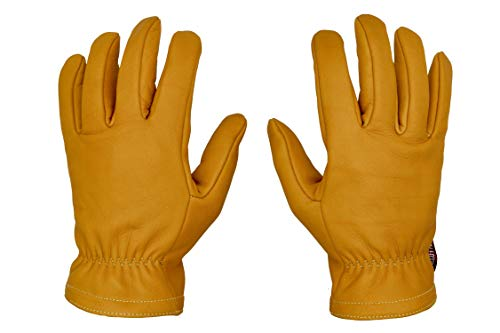 Guanti Moto Vintage in Pelle con Kevlar Vintage Giallo Senape † THROTTLESNAKE - GLOVE TROTTER † Old School Mustard Motorcycle Leather & Kevlar Gloves (M)