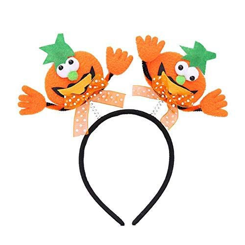 Lxj Halloween Kürbis Glow Glitter Stirnband Kinder Erwachsene Tanz Performance Stirnband Handmade Stoff Kopf Schnalle