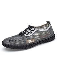 low price fefdf 2a14b EGS-Shoes Sneakers for Men - Chaussures de Marche perforées avec Lacets  élastiques Chaussures de Cricket (Color   Gris, Taille…