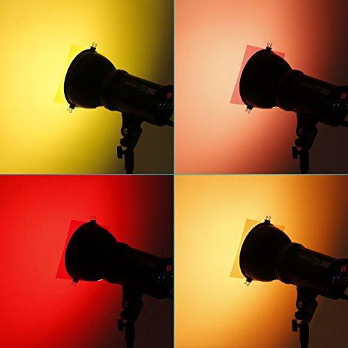 """Neewer® 7 """"x8"""" / 18 x20 cm Transparente Farbenkorrektur Beleuchtungs Gel Filter Set 5er Pack Gel Blatt für Foto-Studio-Röhrenblitz-Licht (Rot, Orange, Gelb, Gelb, Magenta )"""