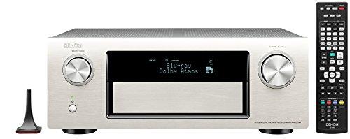 Denon AVR-X4200W 7.2 Surround AV-Receiver ( Dolby Atos, dtsX, W-Lan, Bluetooth, Spotify Connect,7 +1 HDMI 3D/4k,  3 HDMI Ausgänge, HDCP2.2, App steuerbar , drei Zonen, 7x200Watt) Premium Silber Receiver Denon Avr