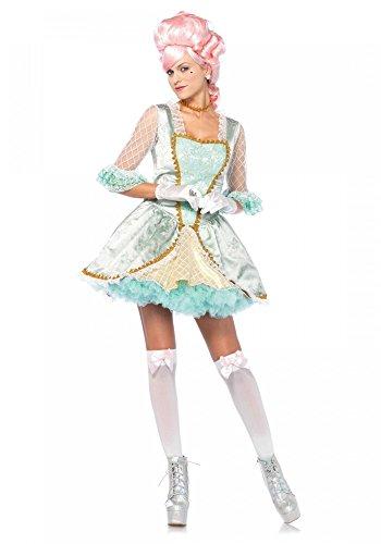 shoperama Deluxe Marie Antoinette Kostüm Leg Avenue Damen Barock Rokoko Königin französisch, - Marie Antoinette Kostüm