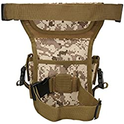 winomo multiusos Outdoor Senderismo Escalada Bumbag para pierna muslo cintura cinturón Pack Funda Bolsa Cartera Monedero Ejército para fans (Digital desierto)