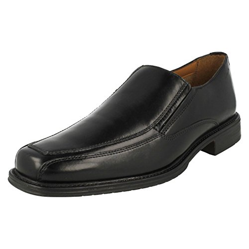 Clarks Driggs Free Black Leather 10 UK G / 44.5 EU