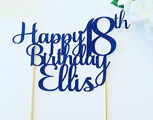 Claude6yhAly Alles Gute zum Geburtstag Cake Topper personalisierte Cake Topper Alter Cake Topper 18. 30. 40. 21. 50. 60. 70. 80. Kuchen Dekoration