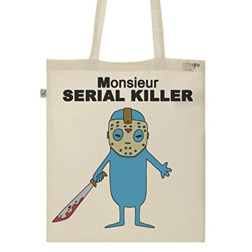 Tote Bag Imprimé Ecru - Toile en coton bio - Monsieur Serial Killer