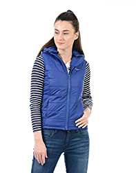 Pepe Jeans Womens Quilted Jacket (PILT200606_Ro-Blue_Medium)