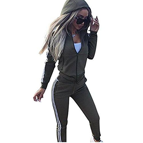 Frauen Trainingsanzug Jumpsuit Damen Zipper Playsuits Sportswear Trainingsanzüge Overall 2 Stück Set Juleya