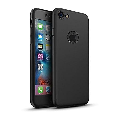 iPhone 6/6s 360 Degres + Protection en Verre Trempé, [ 360 ° ] [ Noir ] Coque de protection avant et arrière cases iPhone 6/6s Integrale pour iPhone