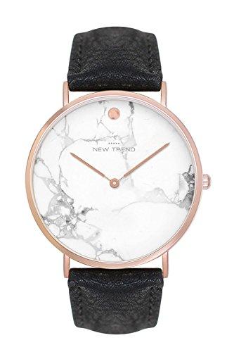 New Trend - Love for Accessories Damen Uhr analog Quarzwerk mit Kunst-Leder-Armband 34-HX24-OQUH