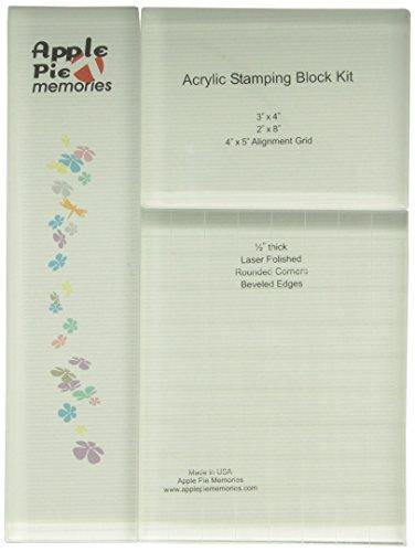 Apple Pie Memories Acrylic Stamp Blocks 3/Pkg -