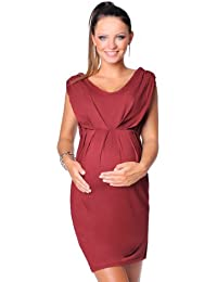 Purpless Damen Umstandskleid Schwangerschaft Cocktail-Kleid Knielang  Ärmellos 8437 86ebe6bc83