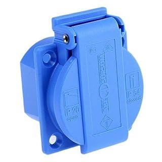 ABL Sursum Blue 1 Gang Electrical Socket, Type F - German Schuko, 16A, Panel Mount, IP54